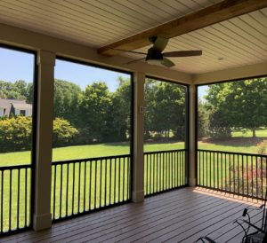 Interior Screen Porch in Davidson, NC