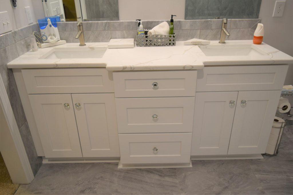 new double vanity in Cornelius home
