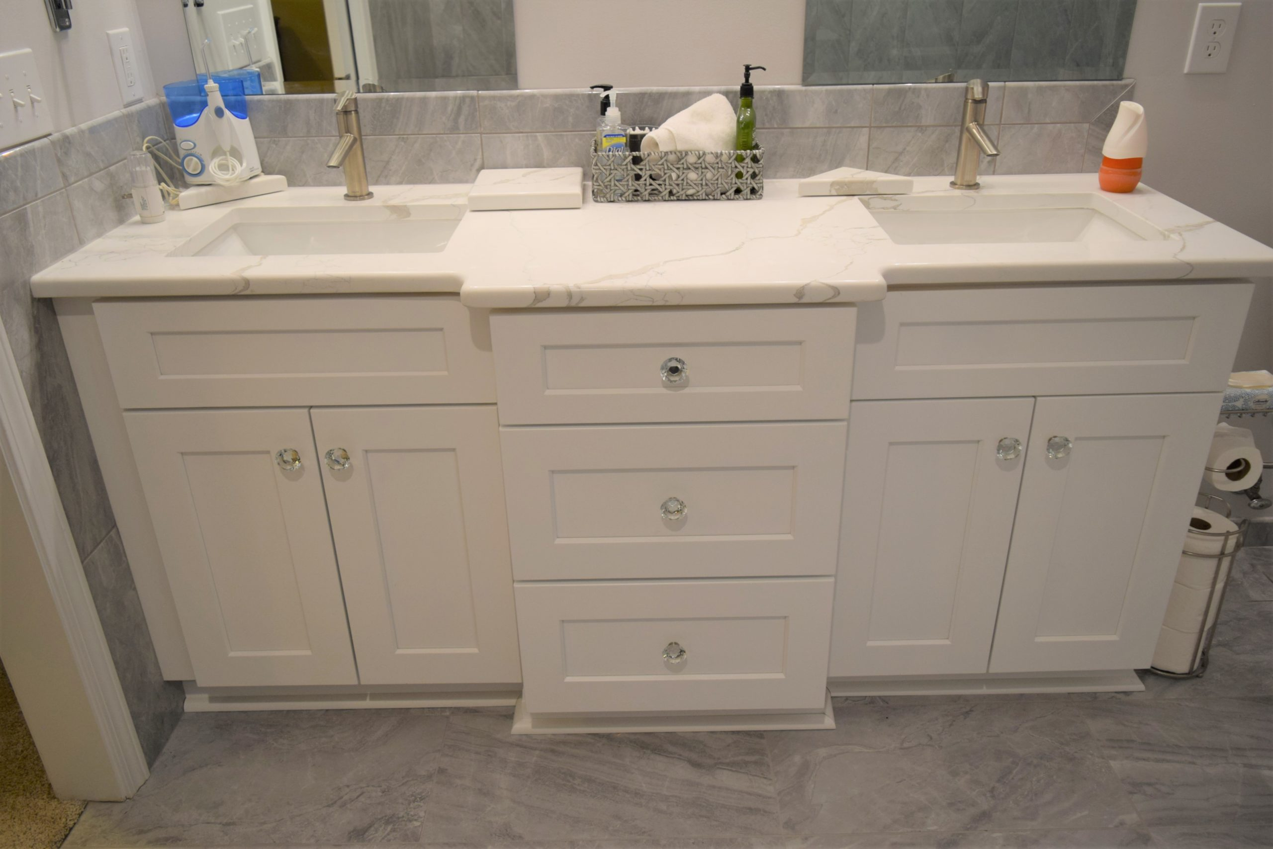 new double vanity in Cornelius home