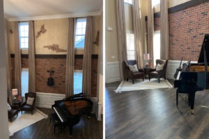 Mooresville Exposed Brick Wall Customization