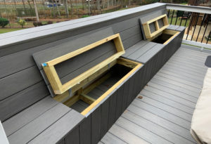 Patio Storage Benches from JAG Construction