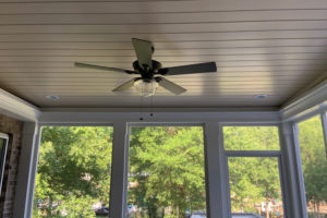 Screen Porch in Lake Norman, Interior Ceiling