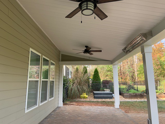Covered Porch Ceiling in Charlotte